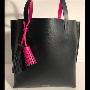 Kate Spade Black and Hot Pink Tote